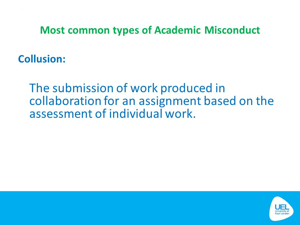 Most common types of Academic Misconduct