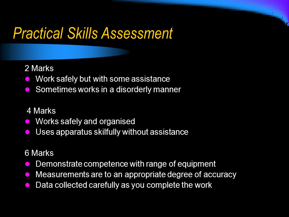 Practical Skills Assessment