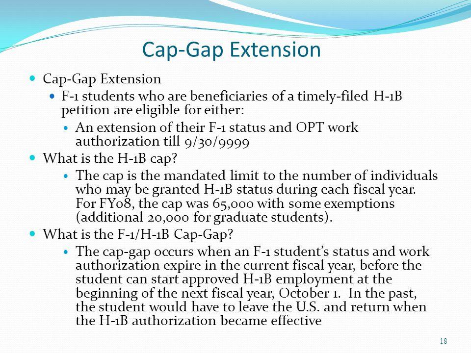Cap-Gap Extension Cap-Gap Extension
