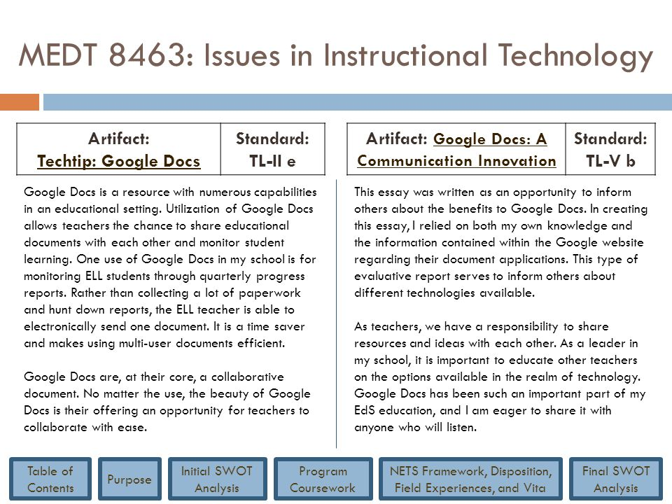MEDT 8463: Issues in Instructional Technology