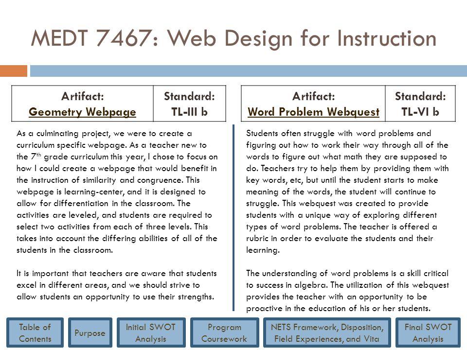 MEDT 7467: Web Design for Instruction