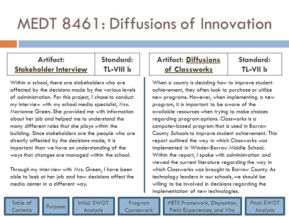 MEDT 8461: Diffusions of Innovation