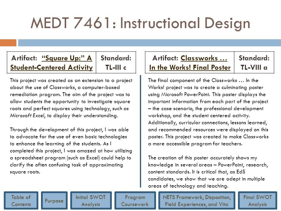 MEDT 7461: Instructional Design