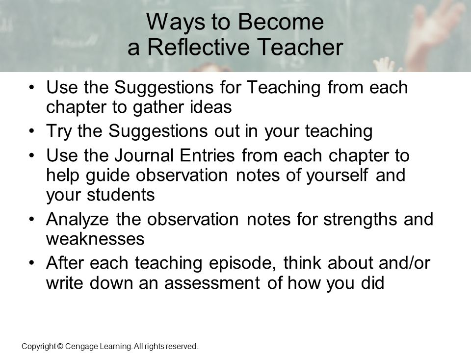 Ways to Become a Reflective Teacher