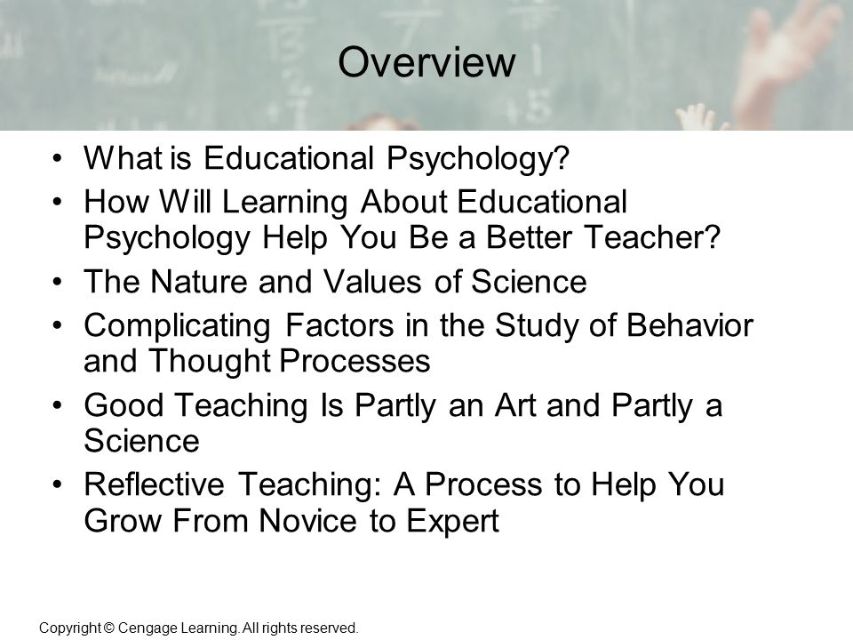 Overview What is Educational Psychology