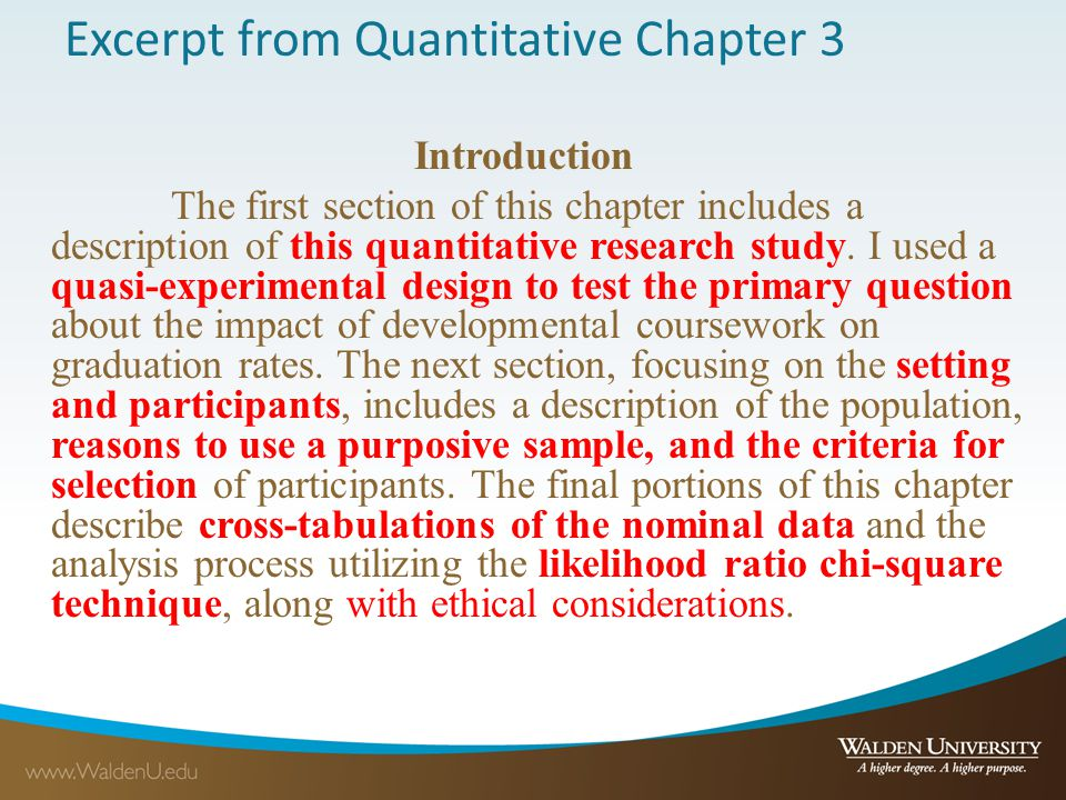 Excerpt from Quantitative Chapter 3