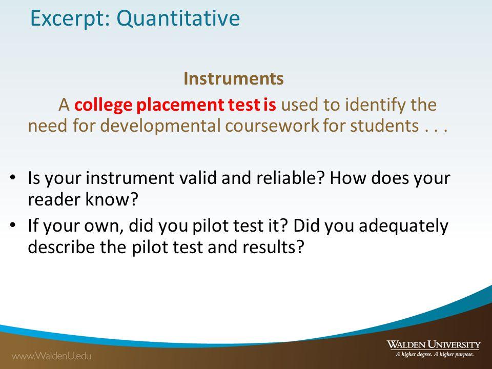 Excerpt: Quantitative
