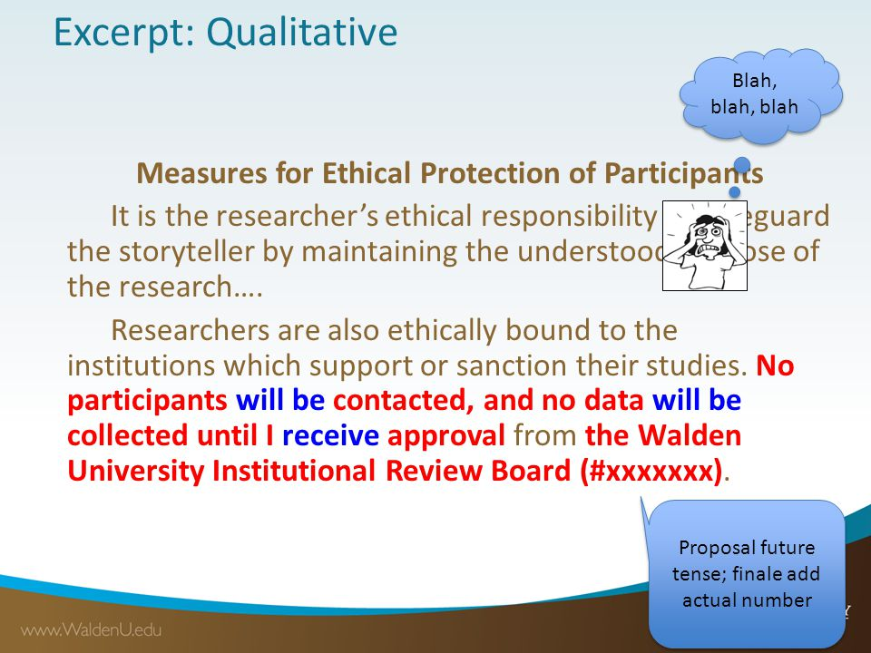 Excerpt: Qualitative Measures for Ethical Protection of Participants