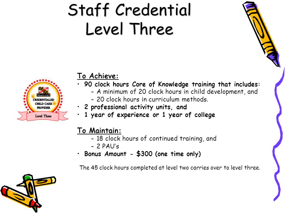 Staff Credential Level Three