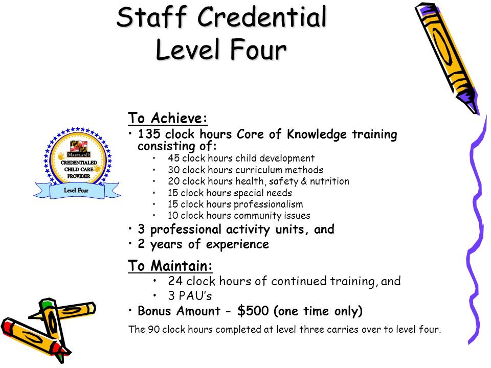 Staff Credential Level Four