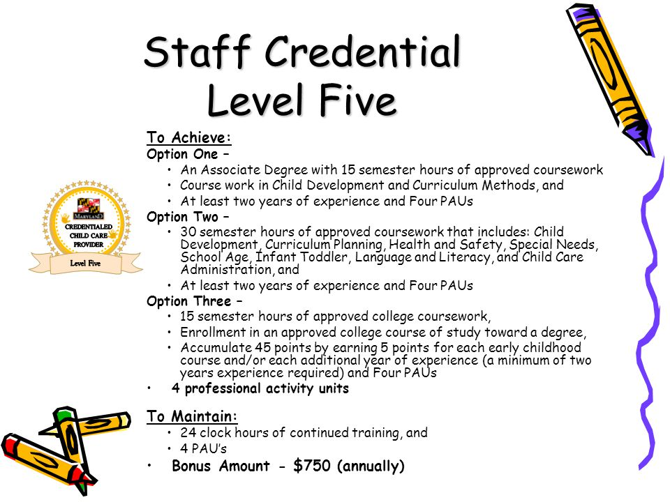 Staff Credential Level Five