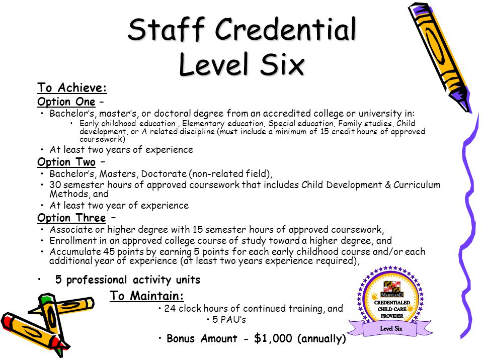 Staff Credential Level Six