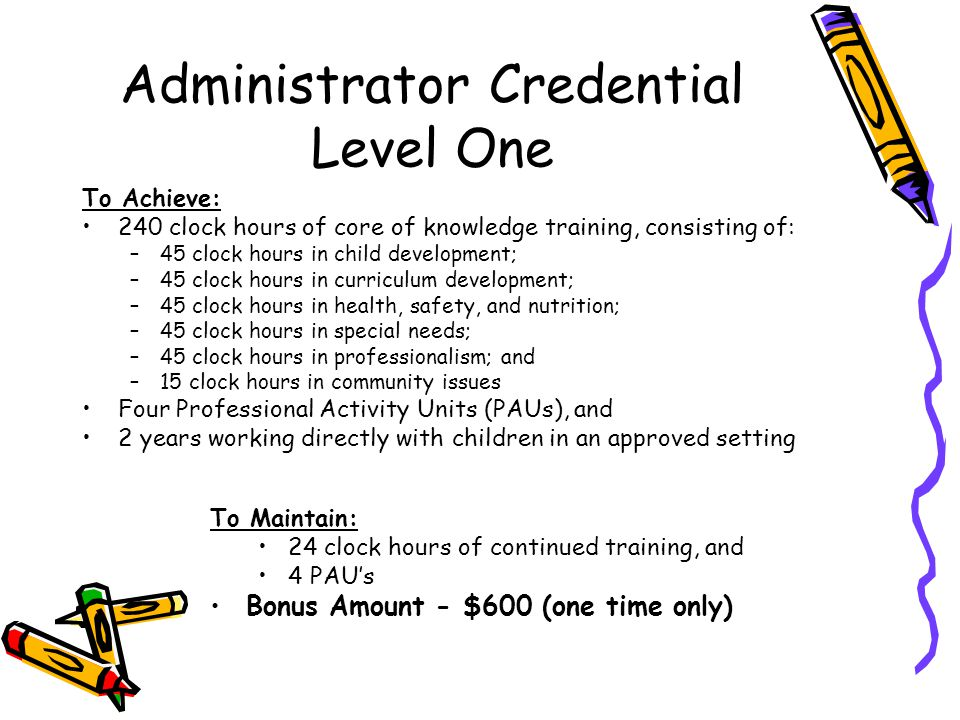 Administrator Credential Level One