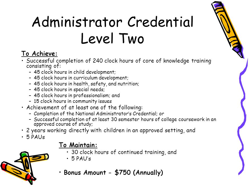 Administrator Credential Level Two