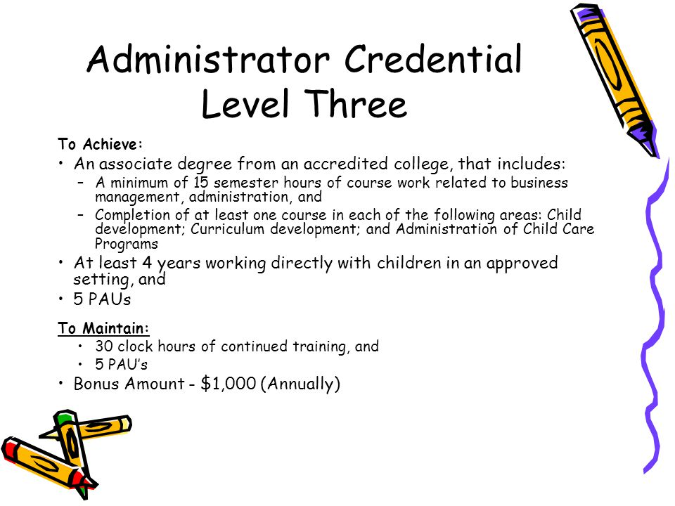 Administrator Credential Level Three