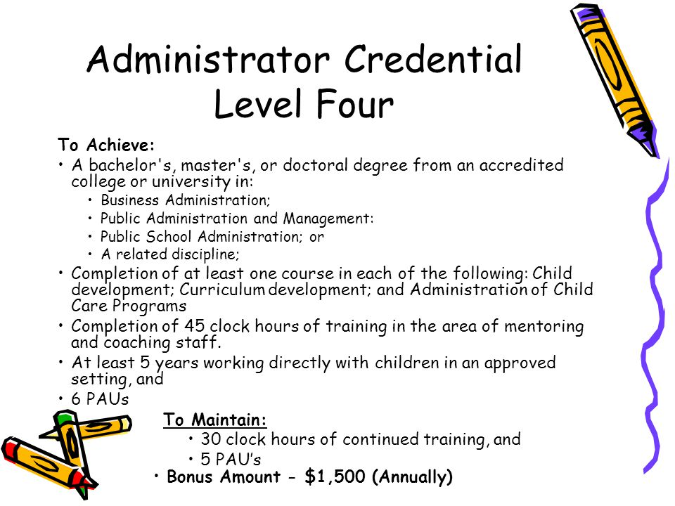 Administrator Credential Level Four