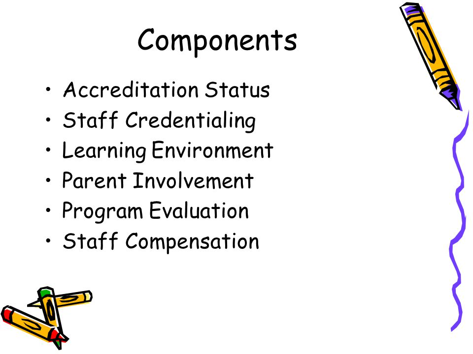 Components Accreditation Status Staff Credentialing