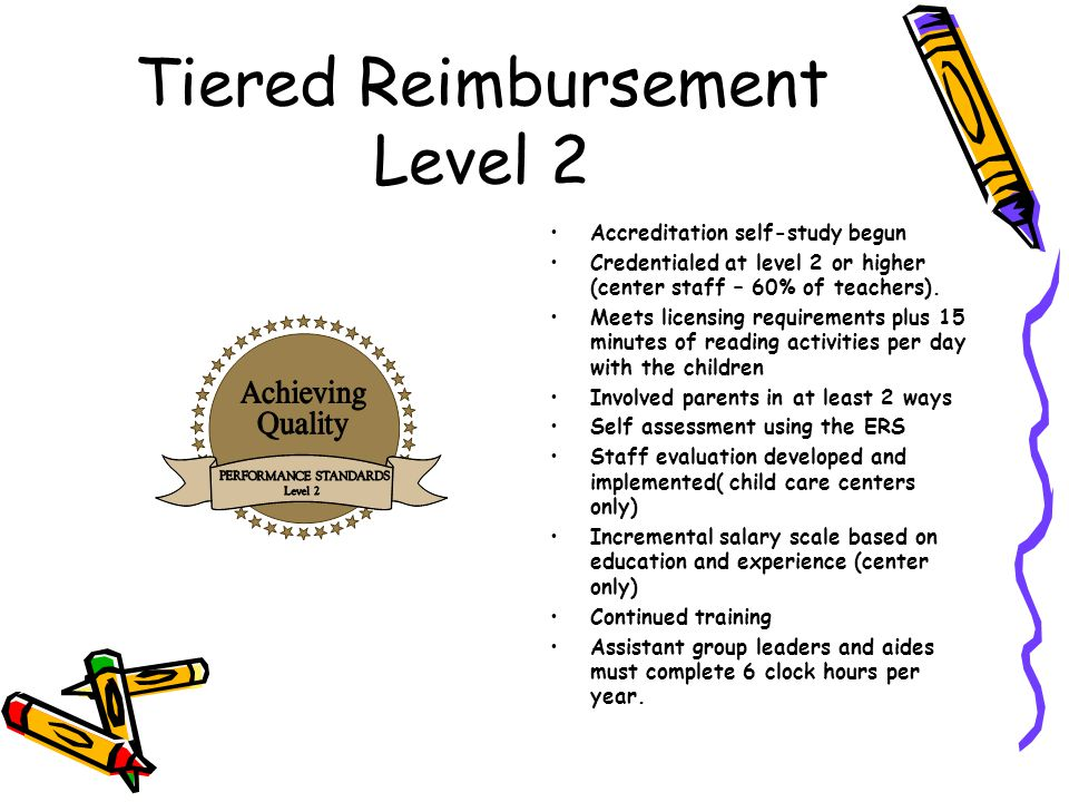 Tiered Reimbursement Level 2