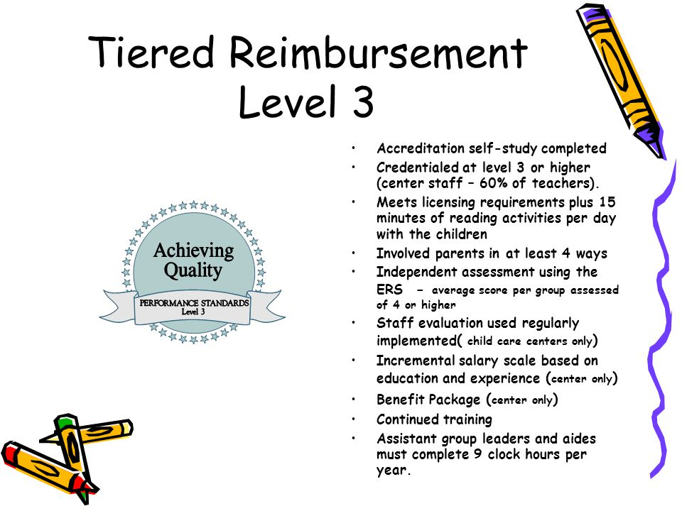 Tiered Reimbursement Level 3