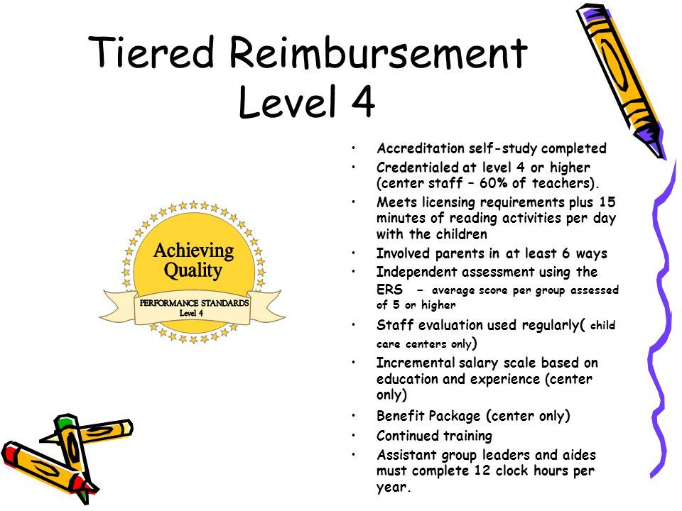 Tiered Reimbursement Level 4