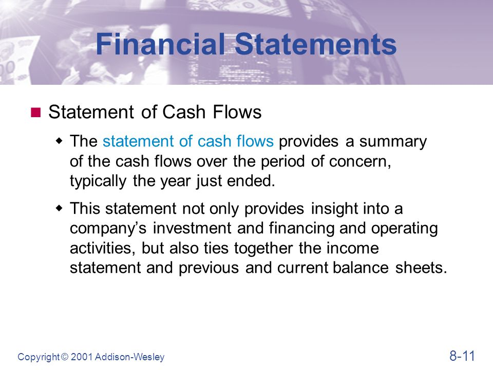 Financial Statements Table 8.4