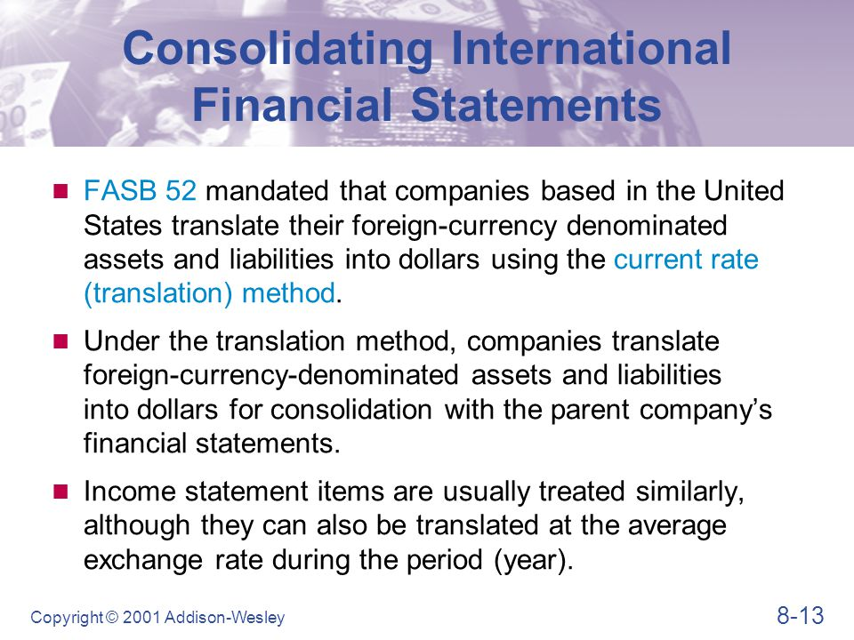 Consolidating International Financial Statements