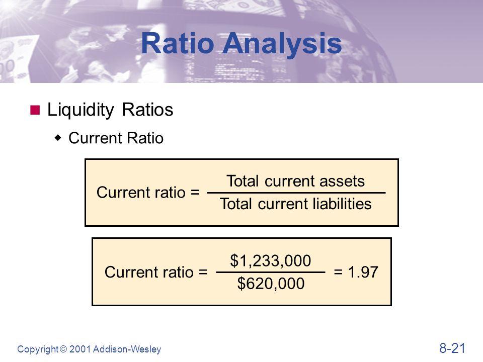 Ratio Analysis Liquidity Ratios Quick ratio Quick ratio =