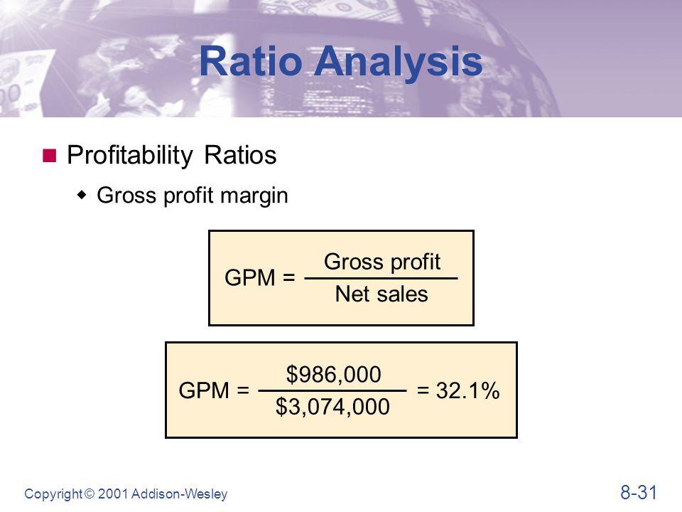 Ratio Analysis Profitability Ratios Operating profit margin OPM = EBIT