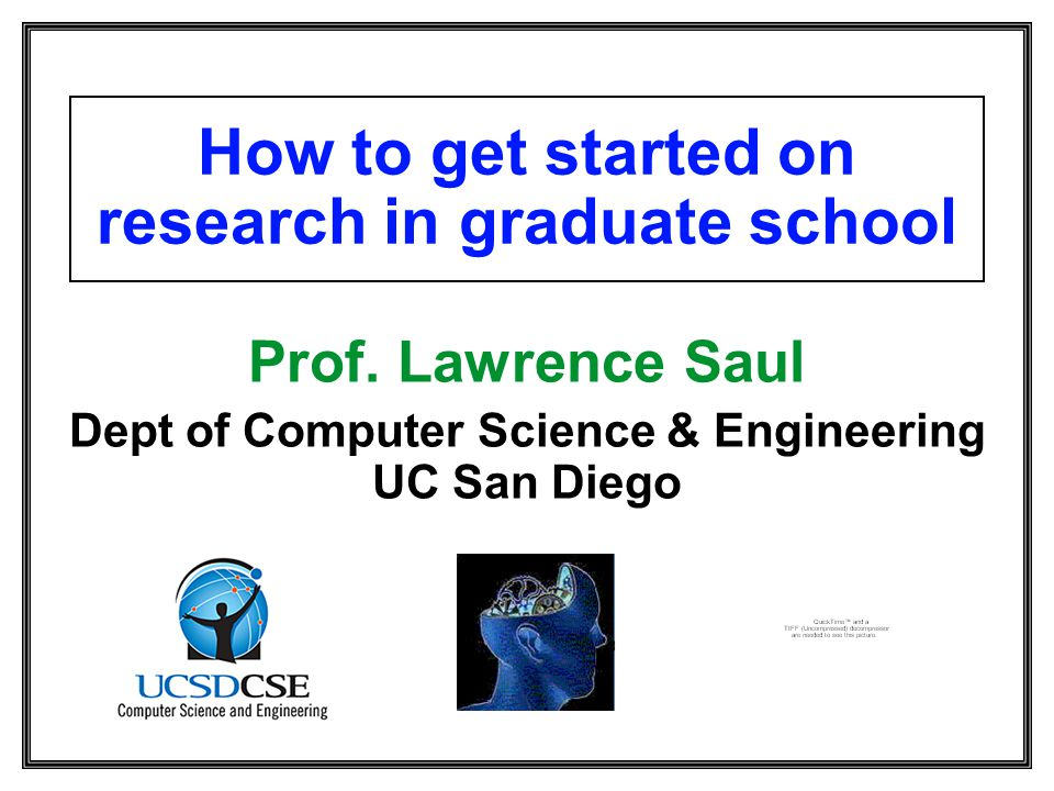 How to get started on research in graduate school