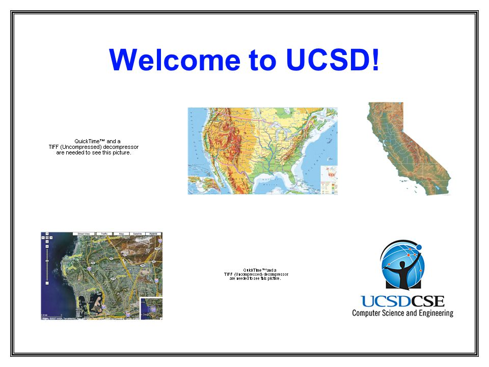 Welcome to UCSD!