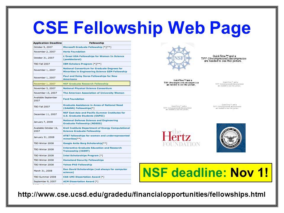 CSE Fellowship Web Page
