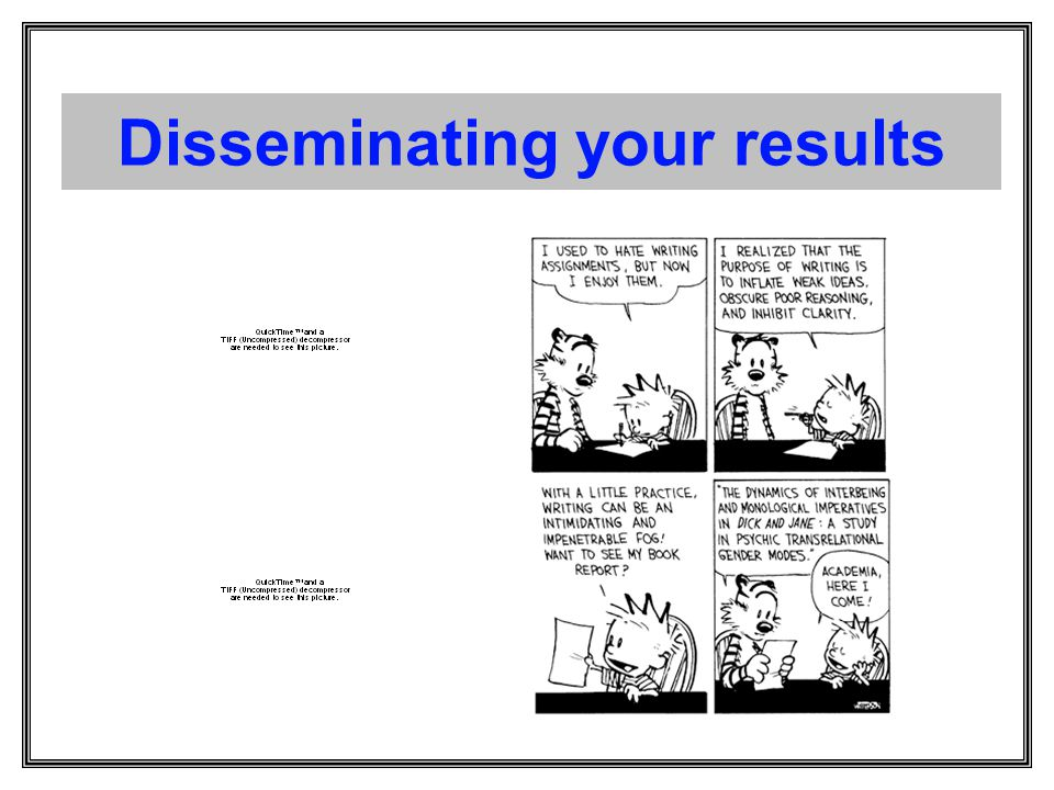 Disseminating your results