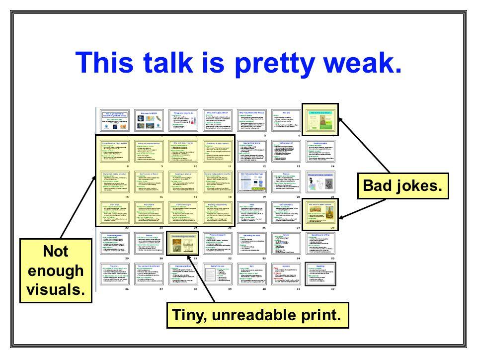 This talk is pretty weak.