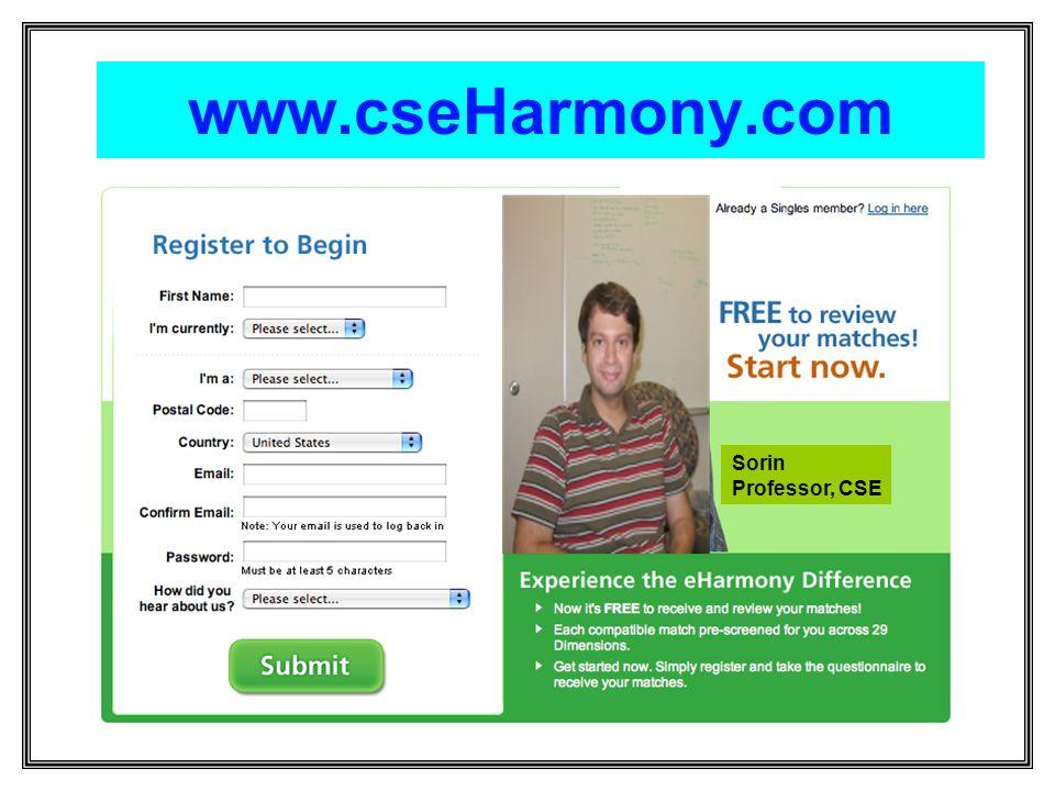 www.cseHarmony.com Sorin Professor, CSE