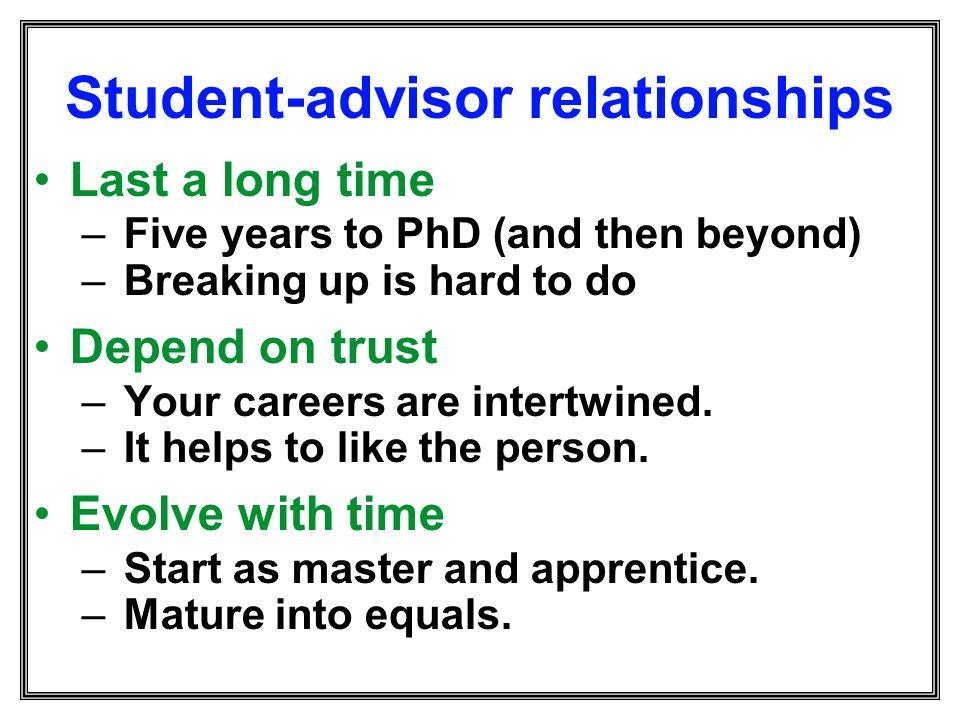 Student-advisor relationships