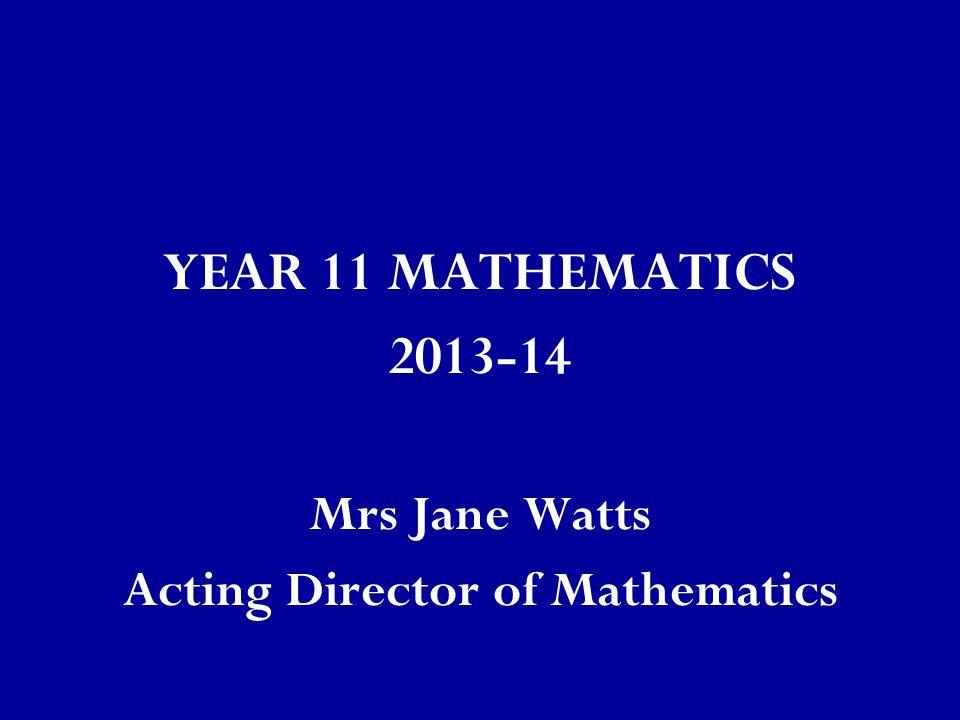 Acting Director of Mathematics