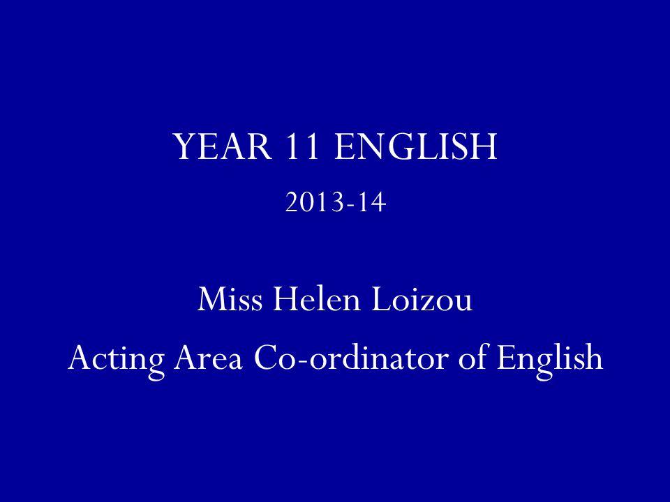 Acting Area Co-ordinator of English