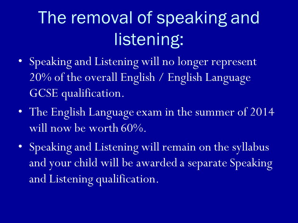 The removal of speaking and listening: