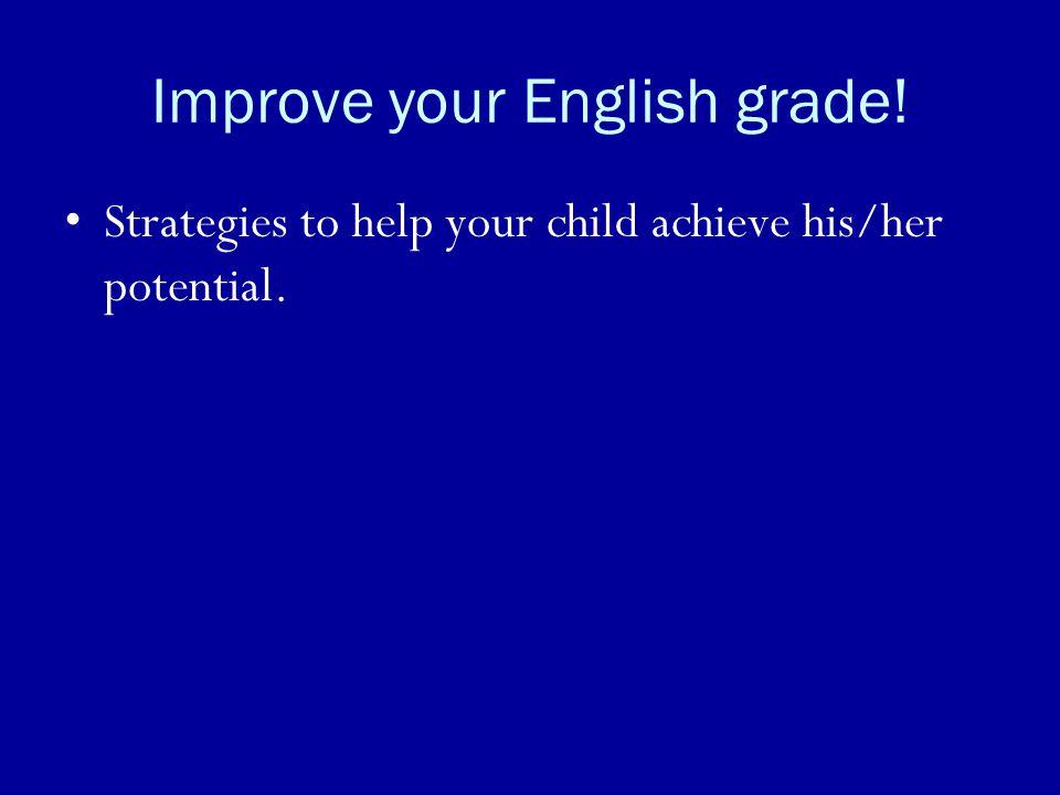 Improve your English grade!