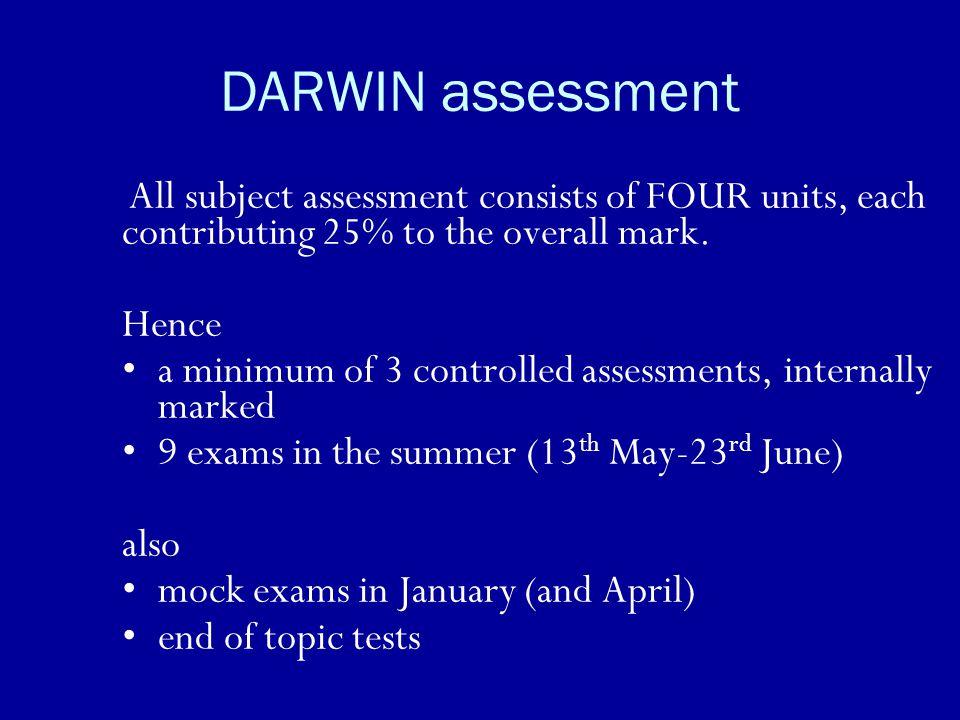 DARWIN assessment Hence