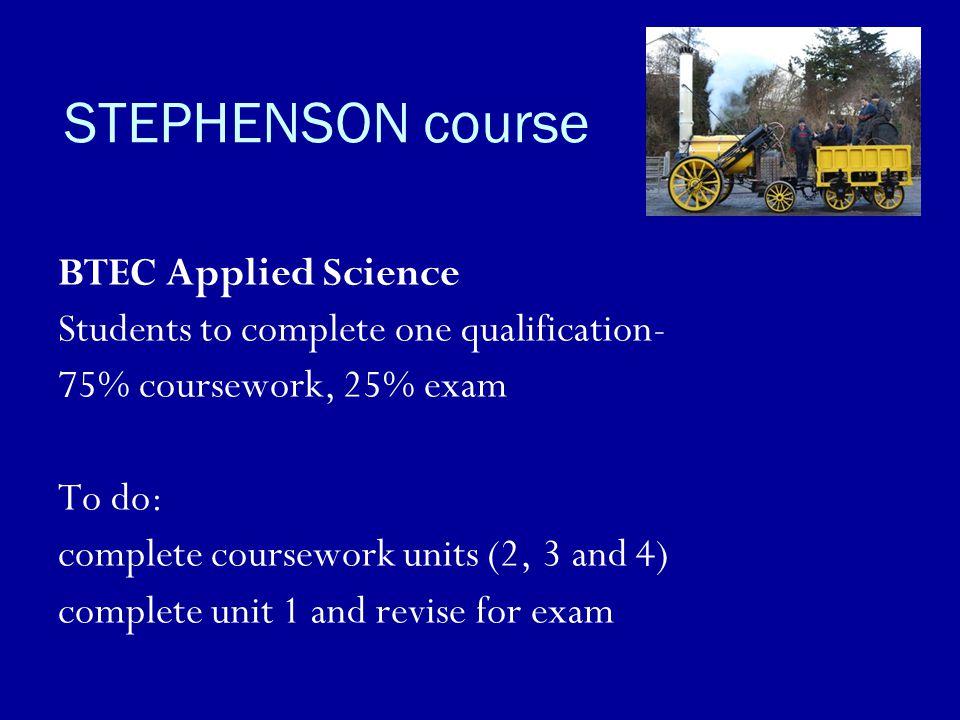 STEPHENSON course