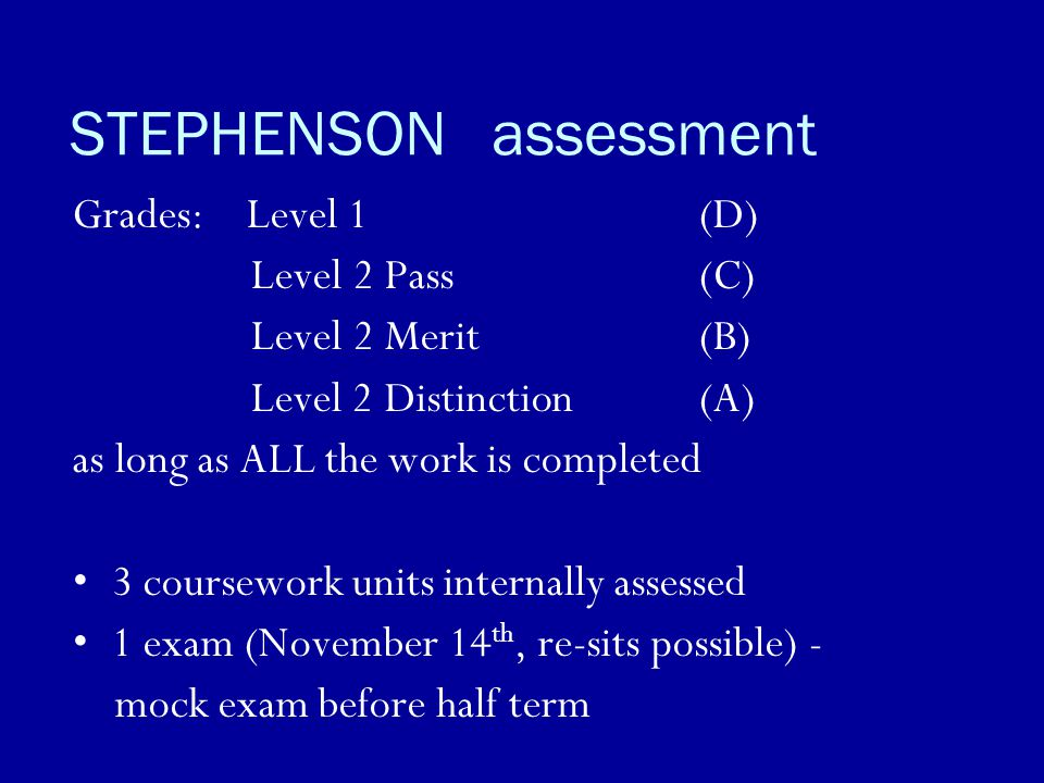 STEPHENSON assessment