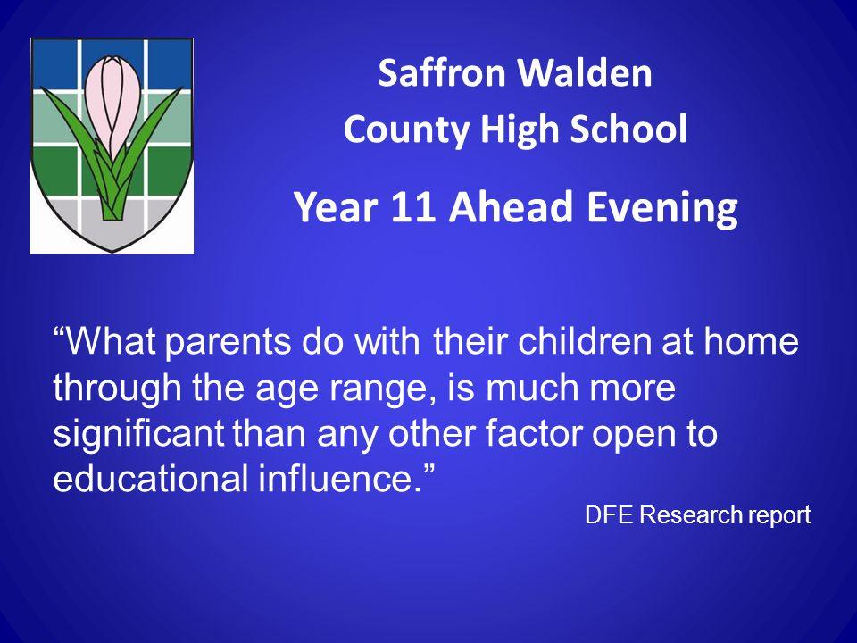 Year 11 Ahead Evening Saffron Walden County High School