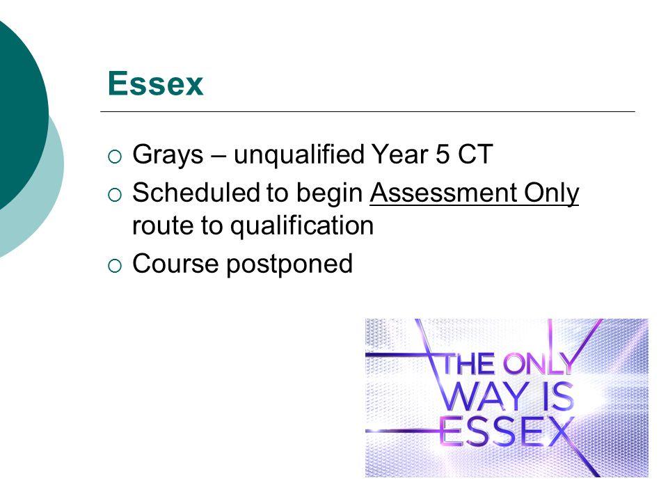 Essex Grays – unqualified Year 5 CT