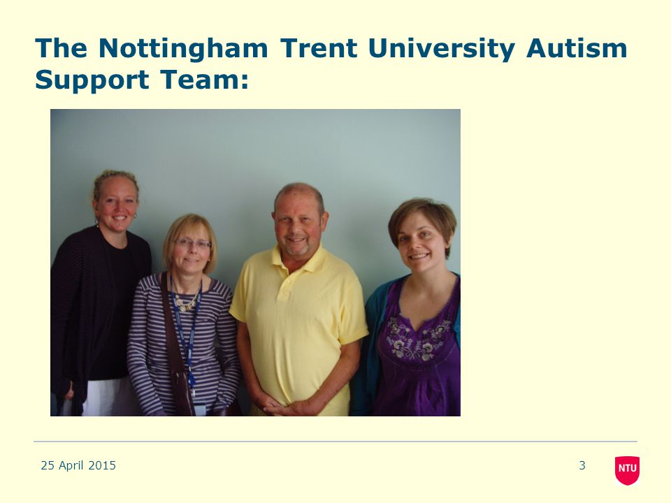 The Nottingham Trent University Autism Support Team:
