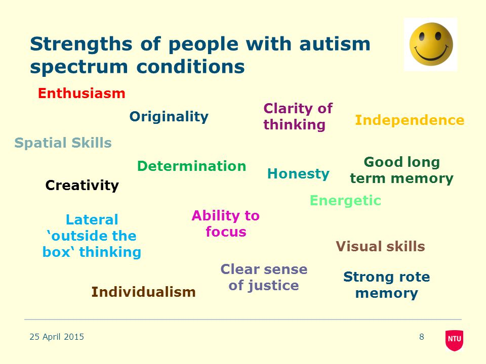 Strengths of people with autism spectrum conditions
