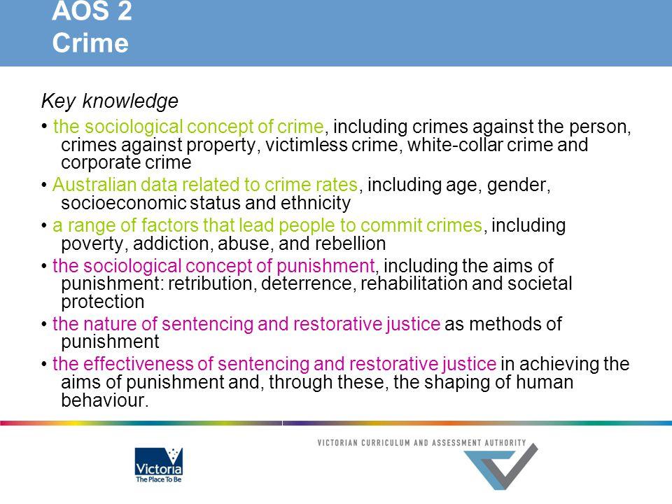 AOS 2 Crime Key knowledge