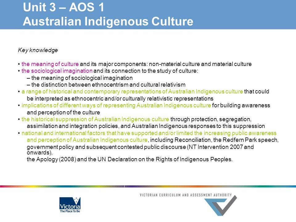 Unit 3 – AOS 1 Australian Indigenous Culture