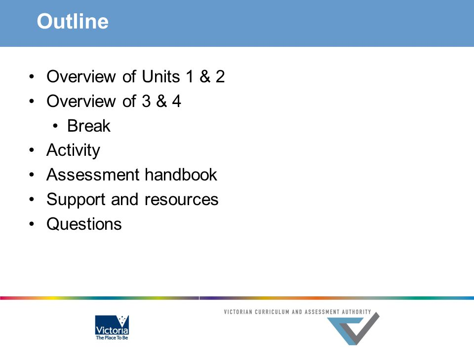 Outline Overview of Units 1 & 2 Overview of 3 & 4 Break Activity