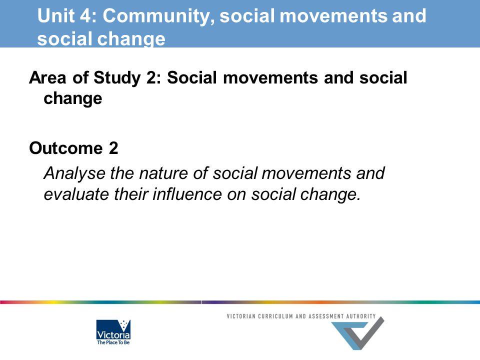 Unit 4: Community, social movements and social change